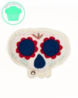 SugarSkull - meksykańska czaszka - biała