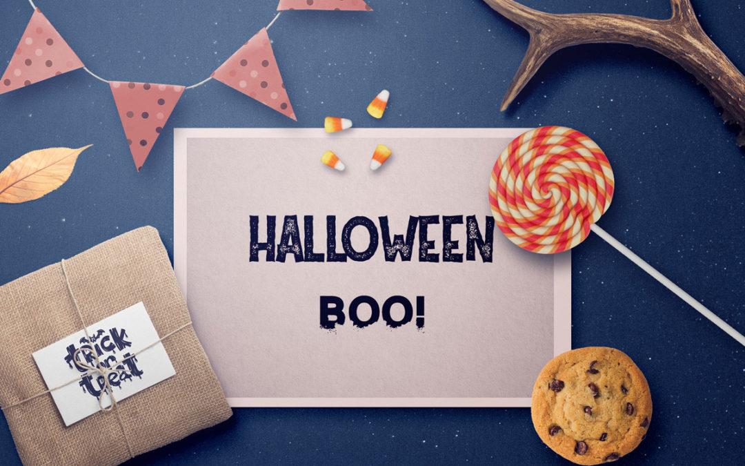 Halloween'owe FONTY | na kartki, ozdoby etc.