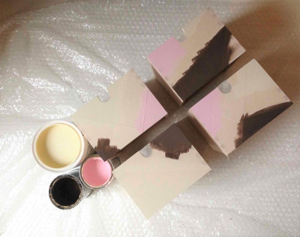 fronty szuflad przygotowane do malowania
