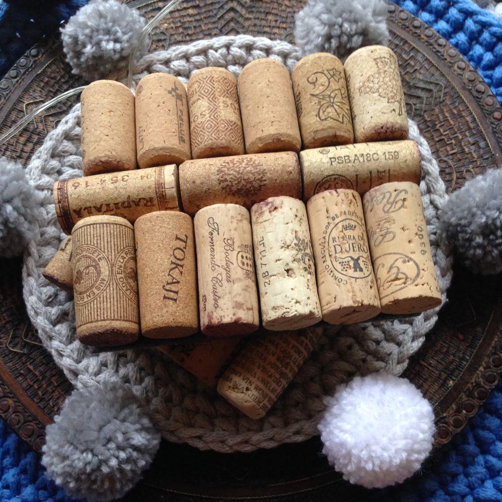 podkładki pod kubek z korków od wina