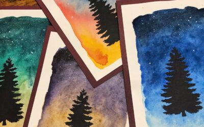 DIY kartki na święta