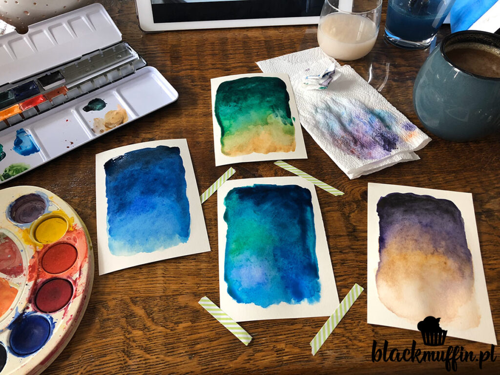 akwarelowe kartki DIY